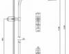 Схема Душевая система Giulini Programma Docce 1649/EX Современный / Скандинавский / Модерн