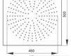 Схема Лейка душевая потолочная Giulini Programma Docce 1685/5/EX Современный / Скандинавский / Модерн
