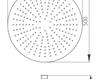 Схема Лейка душевая потолочная Giulini Programma Docce 1686/5/EX Современный / Скандинавский / Модерн
