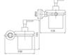 Схема Дозатор для мыла Giulini Accessori Bagno RG0636 Современный / Скандинавский / Модерн