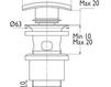 Схема Донный клапан Giulini Articoli Vari 5103 Современный / Скандинавский / Модерн