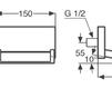 Схема Излив Giulini Articoli Vari pLp 020 B1 Современный / Скандинавский / Модерн