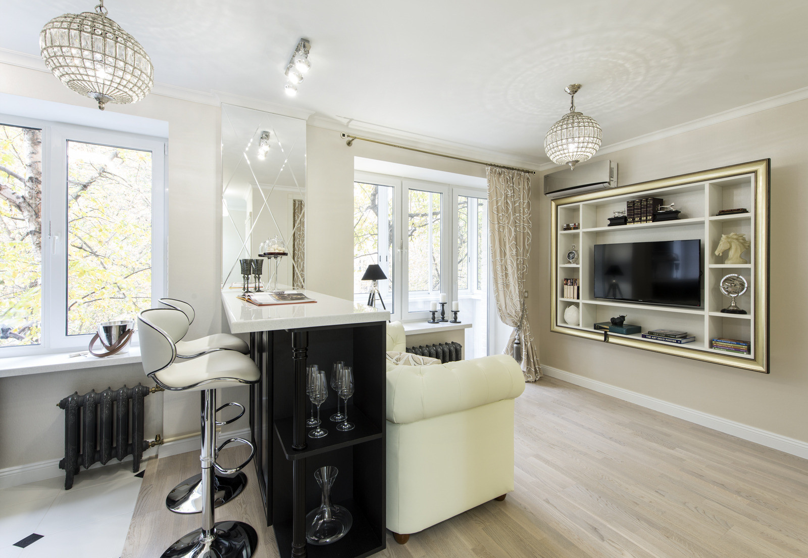 Дизайн квартир кухня гостиная фото