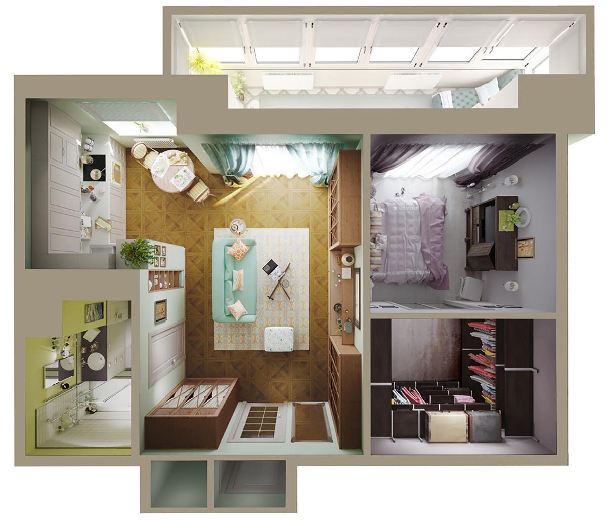 Дизайн проект квартиры брежневки