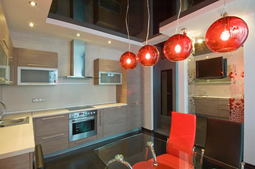 Дизайн кухни квартиры студии 30 кв.м с