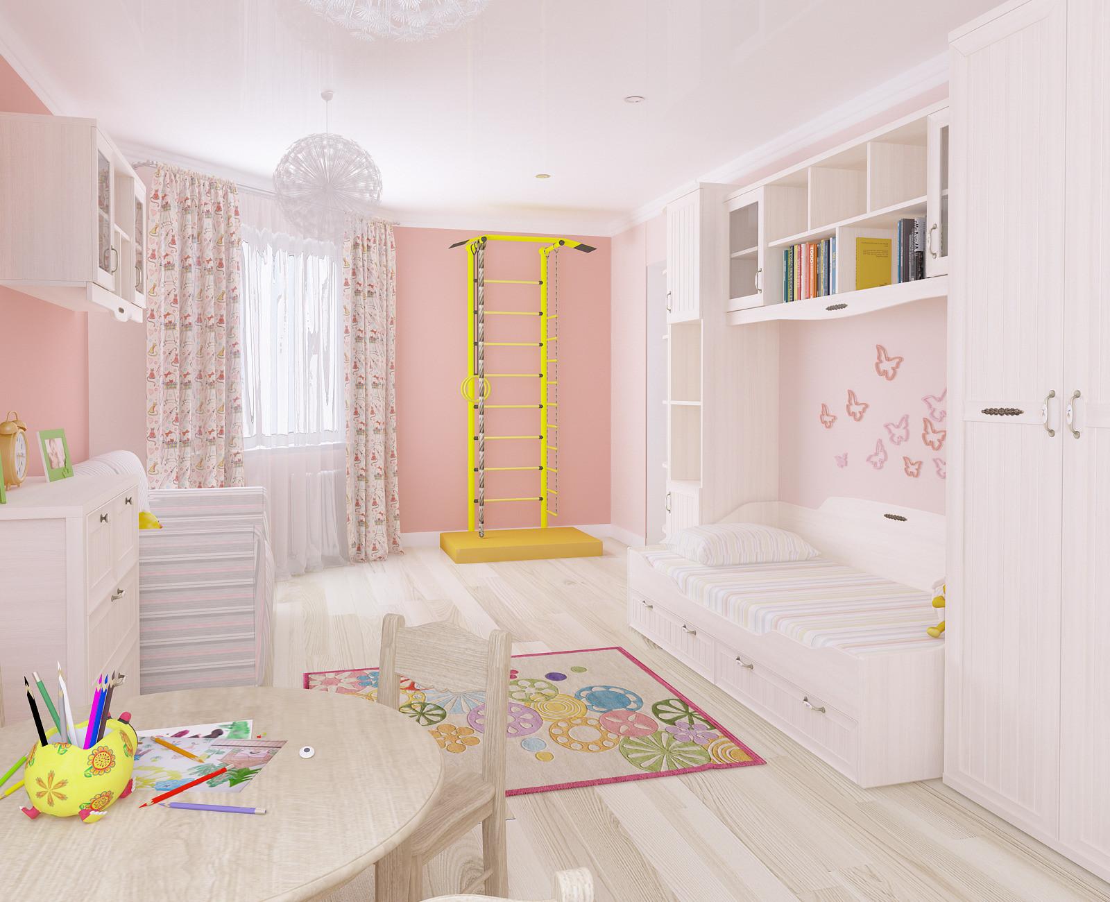 Дизайн детской комнаты для девочки - 65 фото интерьеров, идеи для ремонта