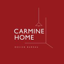 Logo na karminovoy podlozhke carmine home med