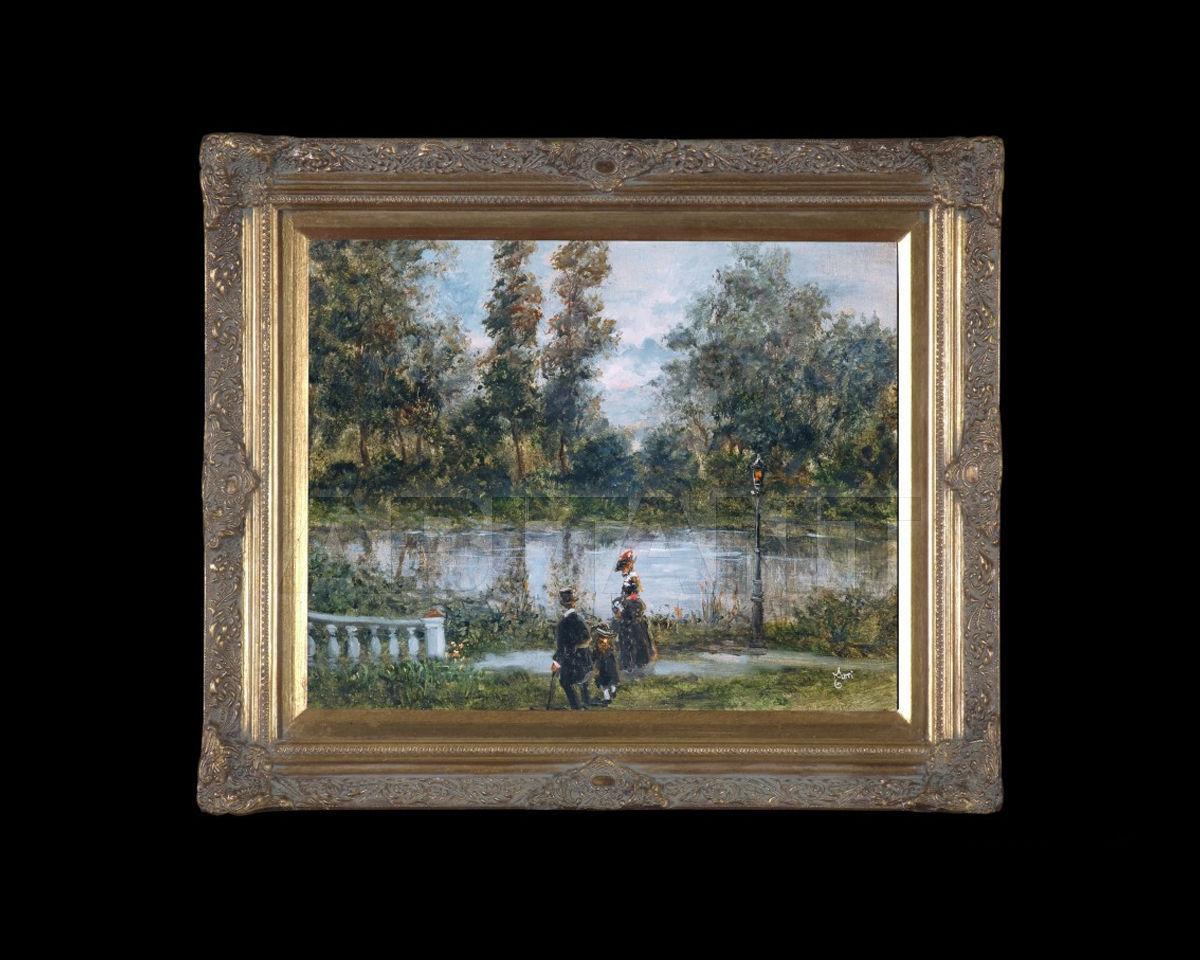 Купить Картина Promenade near the river Barj - Buzzoni s.r.l. IMPRESSIONIST VIEWS 52