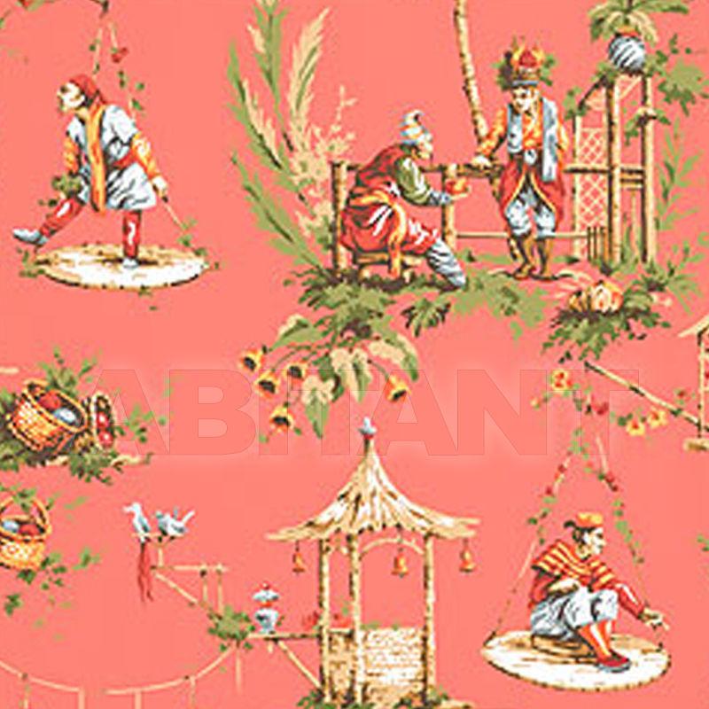 Бумажные обои MARCO POLO персиковые Thibaut Inc  T5810 , каталог
