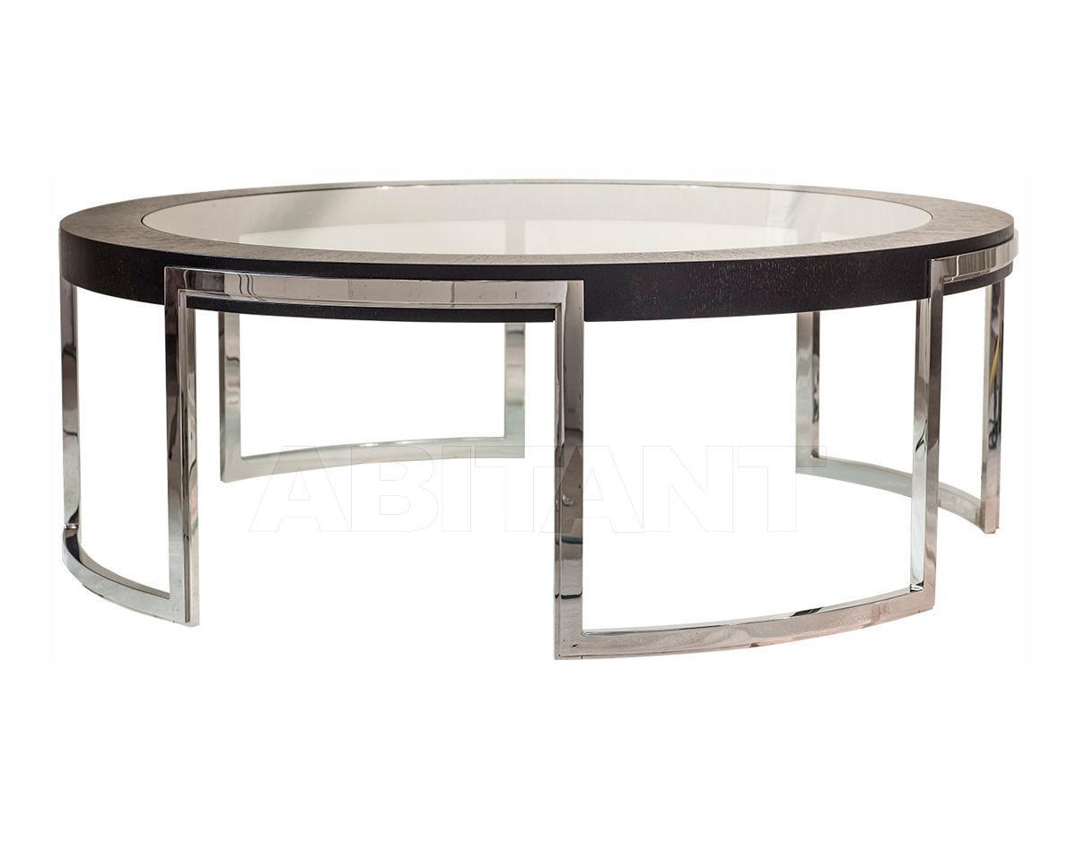 Купить Столик журнальный  Henry Bertrand Ltd Decorus VALENCIA circular coffee table with inset glass