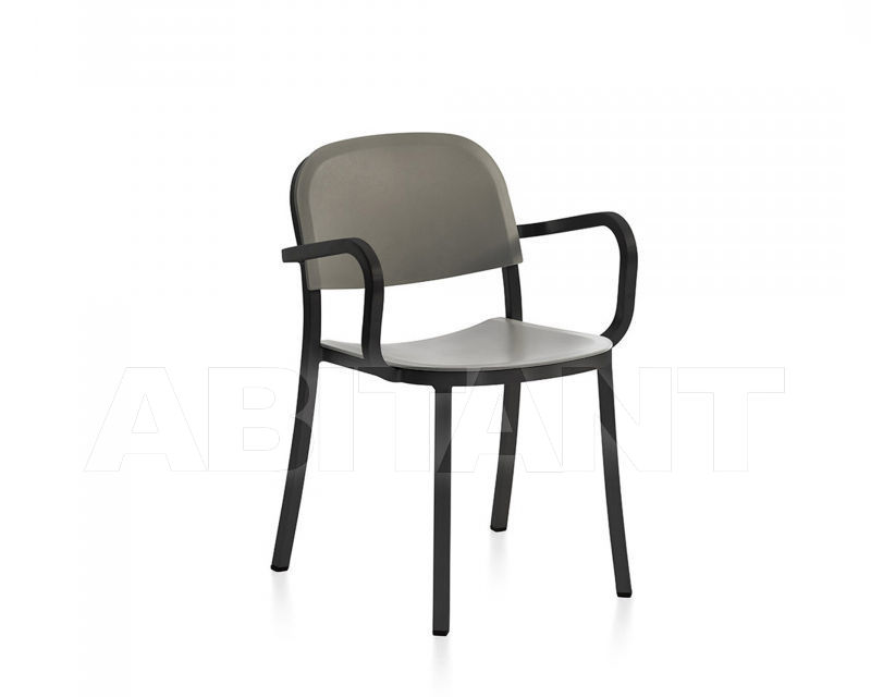 Купить Стул с подлокотниками Emeco 1 Inch by Jasper Morrison 1 INCH DARK PC A LIGHT GREY