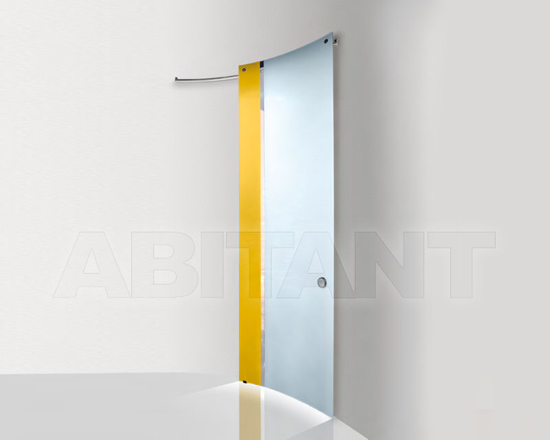 Купить Дверь стеклянная Casali Doors&Solutions Bi•color verticale Zolfo - Ghiaccio