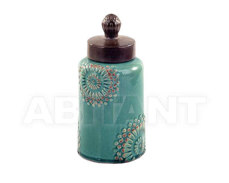 Купить Ваза Turquoise Mehndi Stoneware Lidded Jar Gramercy Home 2014 1/6-0125