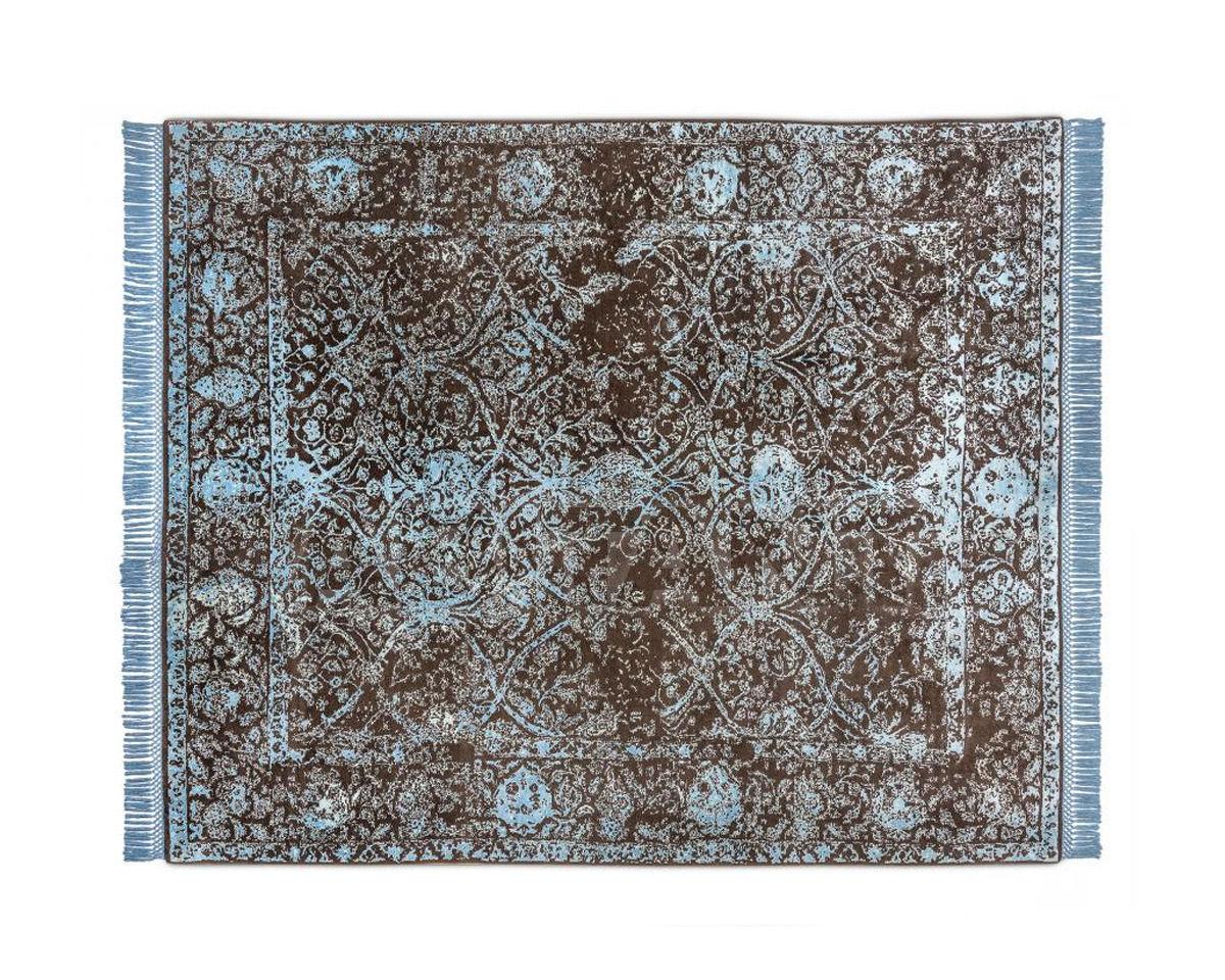 Купить Ковер современный Rug Star Persia/rajasthan Rajasthan No. 03 | LightBlue on NaturalBrown | SilkFringes