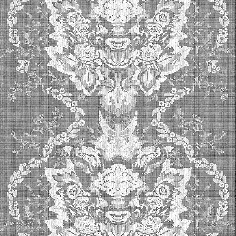 Купить Портьерная ткань DEVIL DAMASK LACE - IVORY Timorous beasties Hornbrook MYB7906