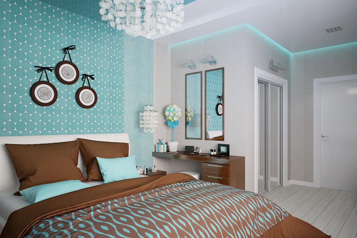 принципе в спальне бирюзовые стены фото дизайн подарок